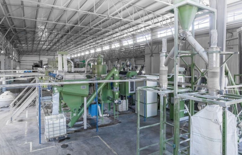 NexantECA processing and recycling of plastic bottles. PET recycling plant
