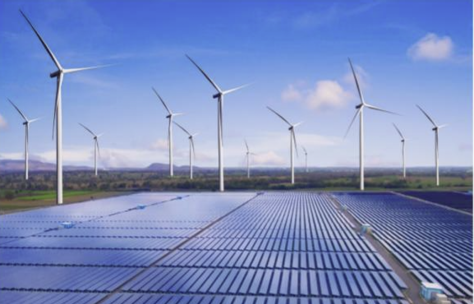 Mega-scale renewable hydrogen tied to mega-scale wind and solar farms