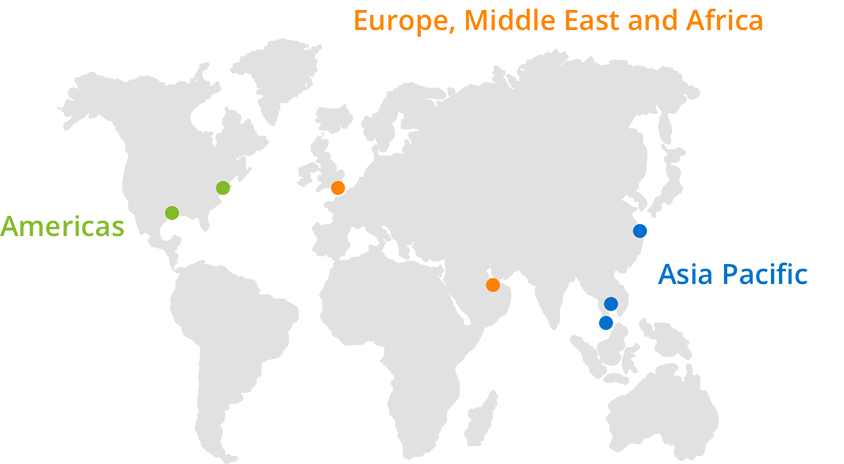 Europe, Middle East and Africa map